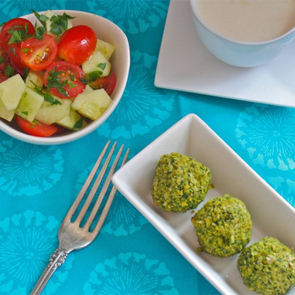 homemade baked falafel with tangy tahini sauce love it # falafelrecipe ...