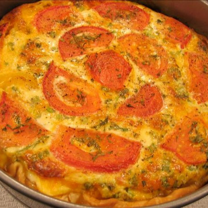 Crustless Zucchini and Tomato Quiche | Have to make this! | Pinterest