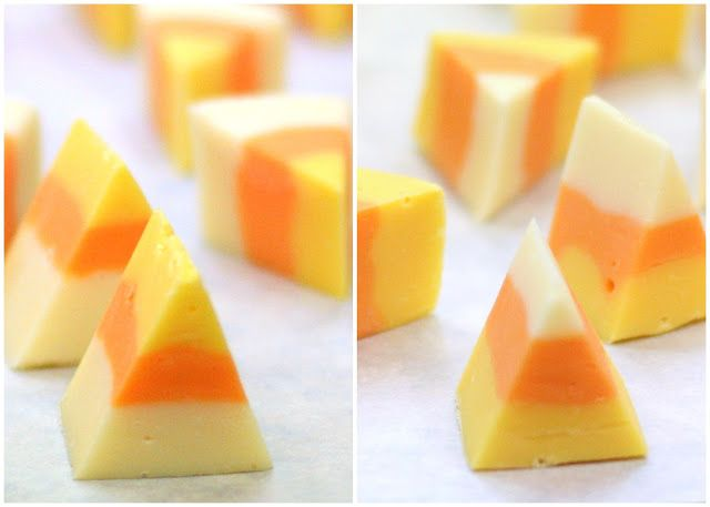White Chocolate Candy Corn Fudge | Bars and Pies | Pinterest