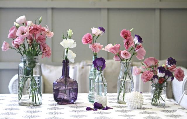 Flores em Vasos Reciclados