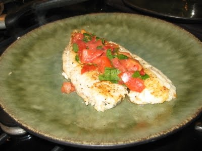 Sautéed Flounder with Mint and Tomatoes | Dinner Ideas | Pinterest