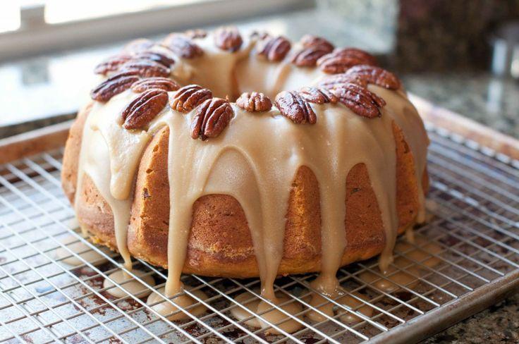 pumpkin cake w. burbon brown sugar glaze | Eat cake! | Pinterest