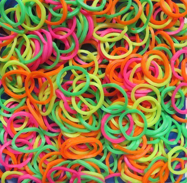 Neon Rainbow Loom Bands