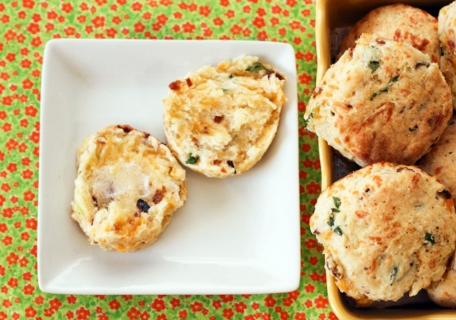 Cheddar Bacon Green Onion Biscuits | Recipe