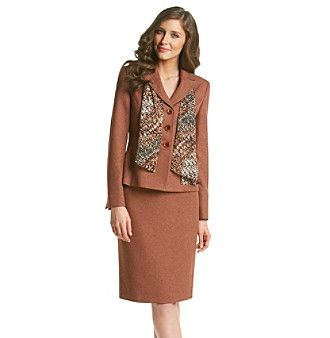 Product le suit 174 herringbone jacket with skirt and scarf