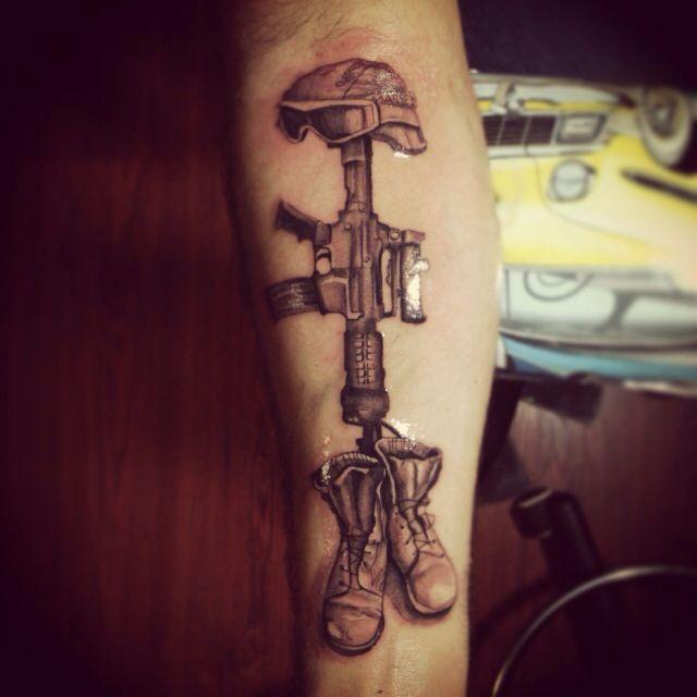 Military memorial tattoo fallen soldier