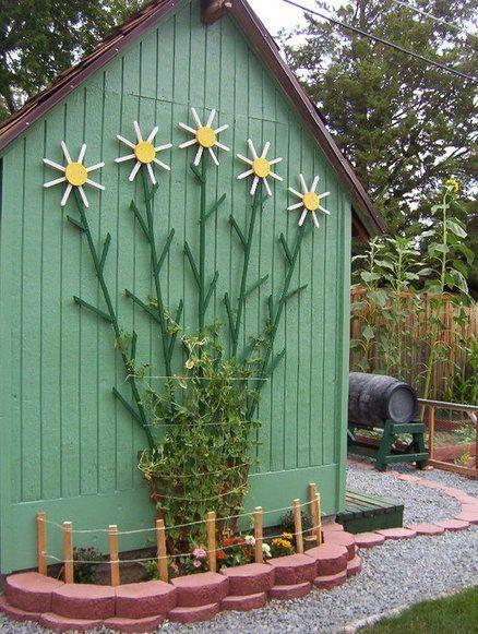DIY Custom Flower Trellis Gardening Yard ideas