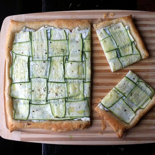 Zucchini Tart with Herbed Lemon Ricotta - just sub any vegan ricotta ...