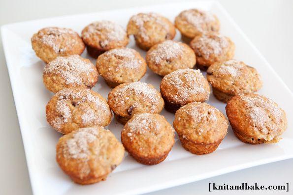 Maple oat chocolate chip mini muffins recipe