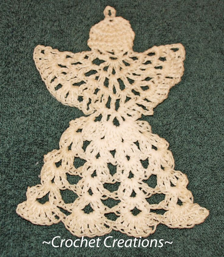 Free Crochet Patterns Angel Ornaments : Crochet Angel ornament Crocheted Ornaments Pinterest