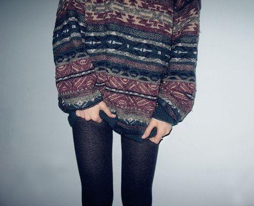 Indie grunge vintage grandad jumper