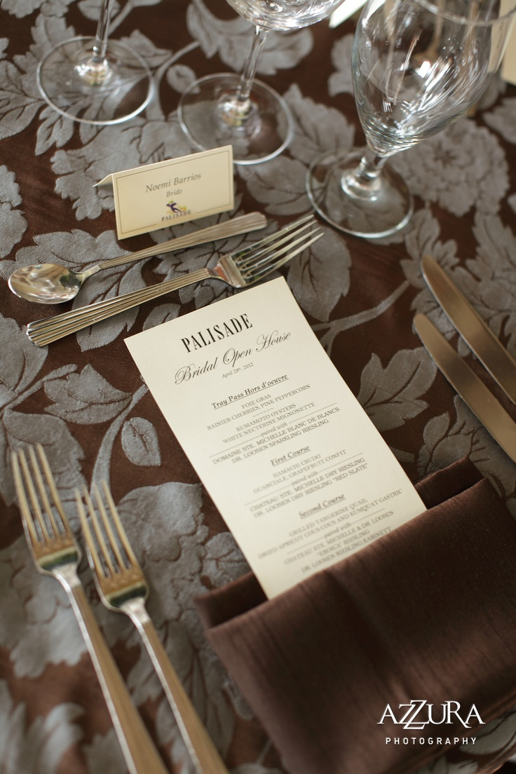 unique table settings weddings at palisade pinterest