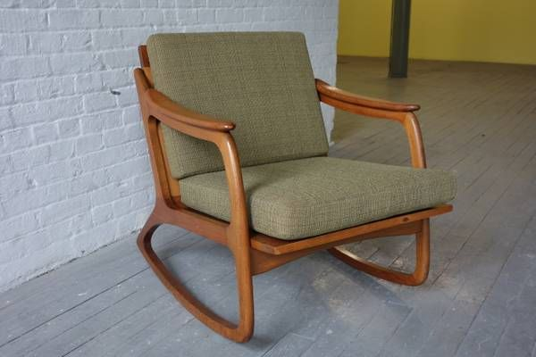mid century danish modern rocking chair decorating pinterest