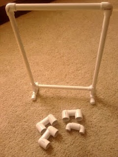 pvc pipe chart stand