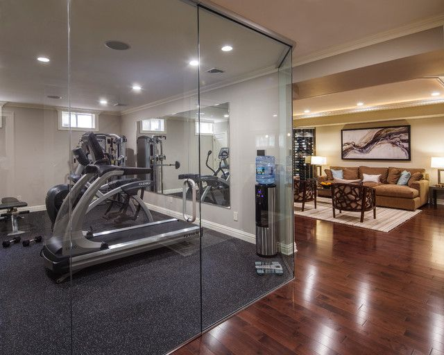 Home gym finished basement ideas