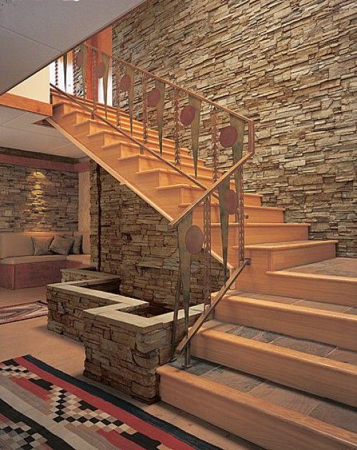 Stone Veneer Stairs Diy And Crafts Pinterest