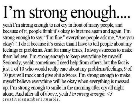 I am strong enough | quotes | Pinterest