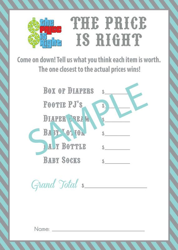 price is right baby shower game play it with outrageously