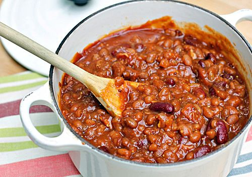 Stove-Top Baked Beans: Bacon chopped and fried in large pan- remove ...