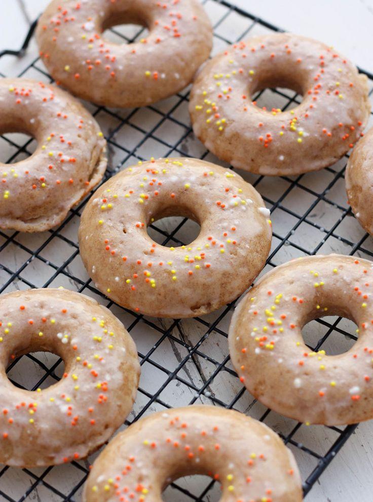 baked apple cider doughnuts | Halloween | Pinterest