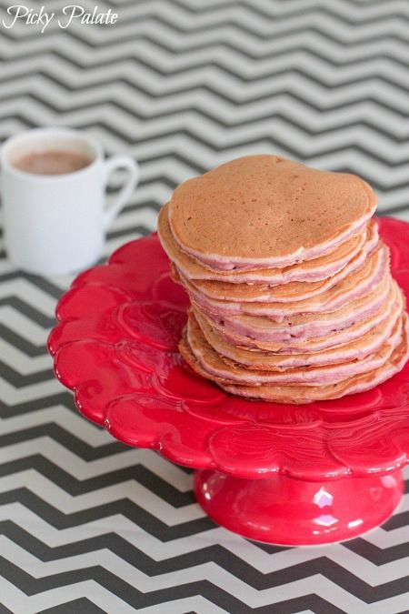 Strawberry Buttermilk Pancakes with Nutella Syrup   Recipe