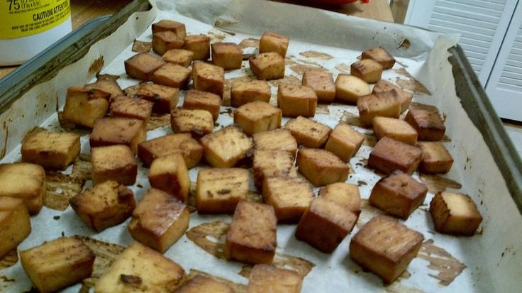 Seasoned Baked Tofu   Yummy Foods!   Pinterest
