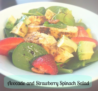 Strawberry and avocado spinach salad | Food to make | Pinterest
