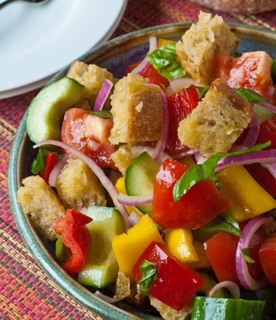 Panzanella (Bread Salad) | SALADS | Pinterest