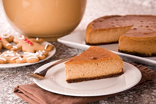 Spiced Eggnog Cheesecake with Gingersnap Crust | Recipe