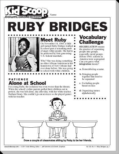 ruby bridges coloring pages - photo#21