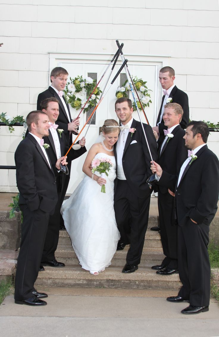 Cool golf wedding picture