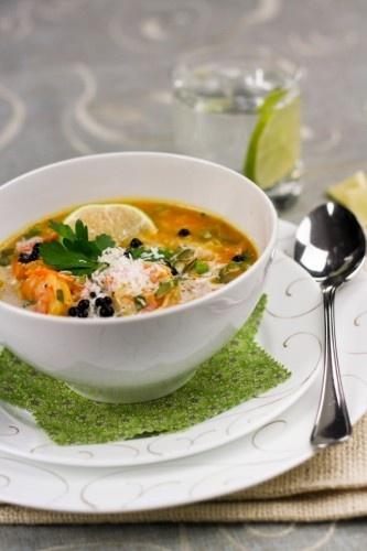 Pumpkin Coconut and Shrimp Chowder | Recipe