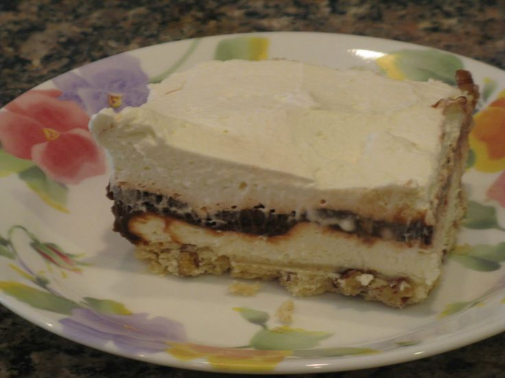 Cake With Chocolate Pudding Layer : : 4 Layer Chocolate Pudding Dessert cooking Pinterest