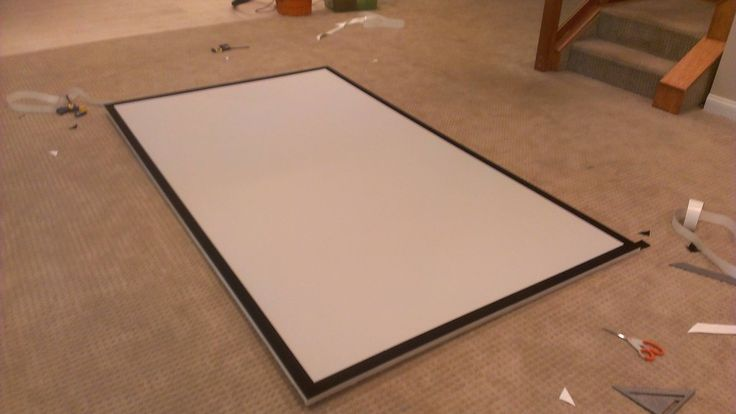 diy projection screen material discover and save creative ideas