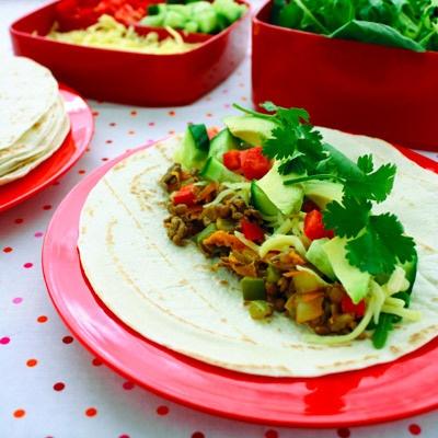 Beef and lentil fajitas | Healthy kid meals and snacks | Pinterest