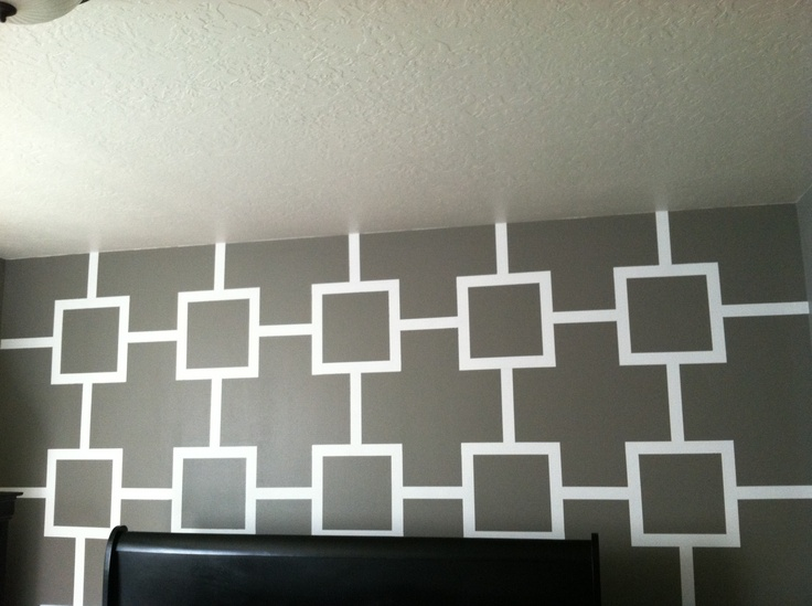 Squares and lines wall color ideas pinterest - Simple design of wall ...