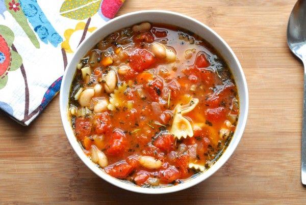 White Bean and Pasta Soup | Soup | Pinterest