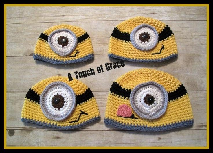 Free Pattern! - Minion Hat crafts Pinterest