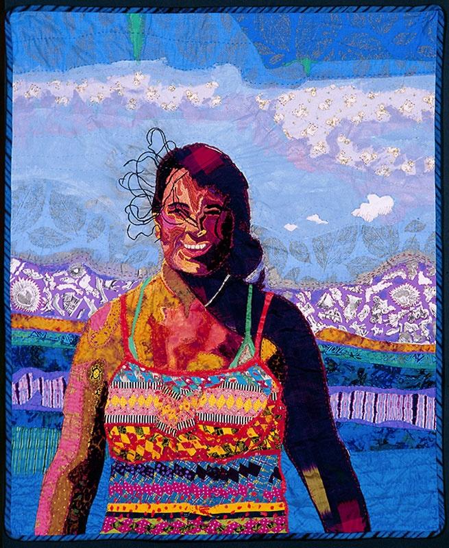 Quilt Artist Terrie Mangat | ArtQuilts Portraits | Pinterest