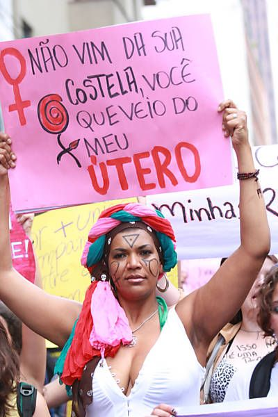 "timecodereading:    ""I didn't come from your rib, you came from my uterus""  Slutwalk São Paulo, 26 May 2012 (see gallery at the link, article in Portuguese)"