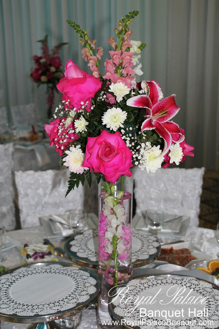 Pink centerpieces for quinceaneras imgkid the