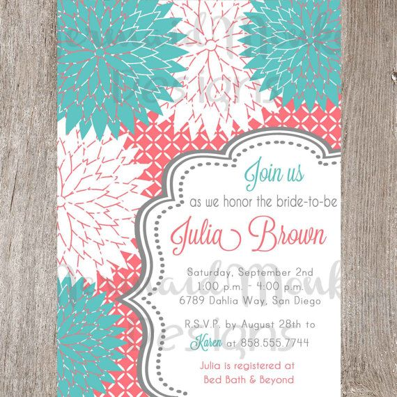Printable Bridal Shower Invitation Potentially way cheaper than having ...