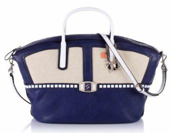 Guess Pembrook Large Satchel Bag, Blue Multi