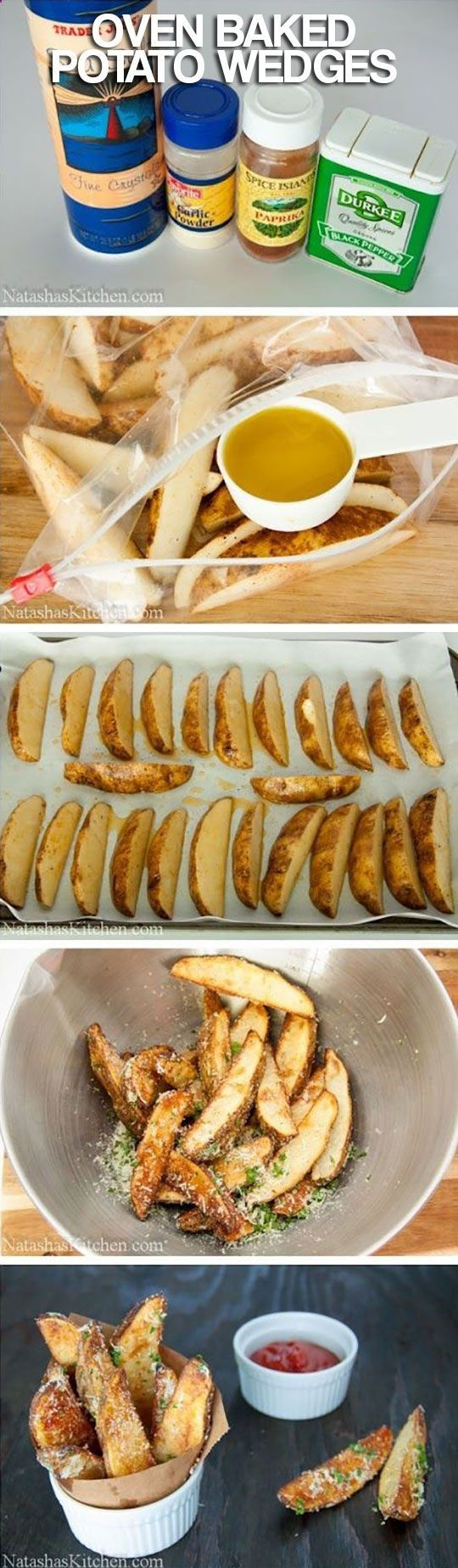 Oven baked potato wedges to die for | Yummy foods & drinks | Pinterest