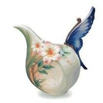 Franz Porcelain Fluttering Beauty Flower & Butterfly Creamer - Cost $106.00  -  please click image for more info...