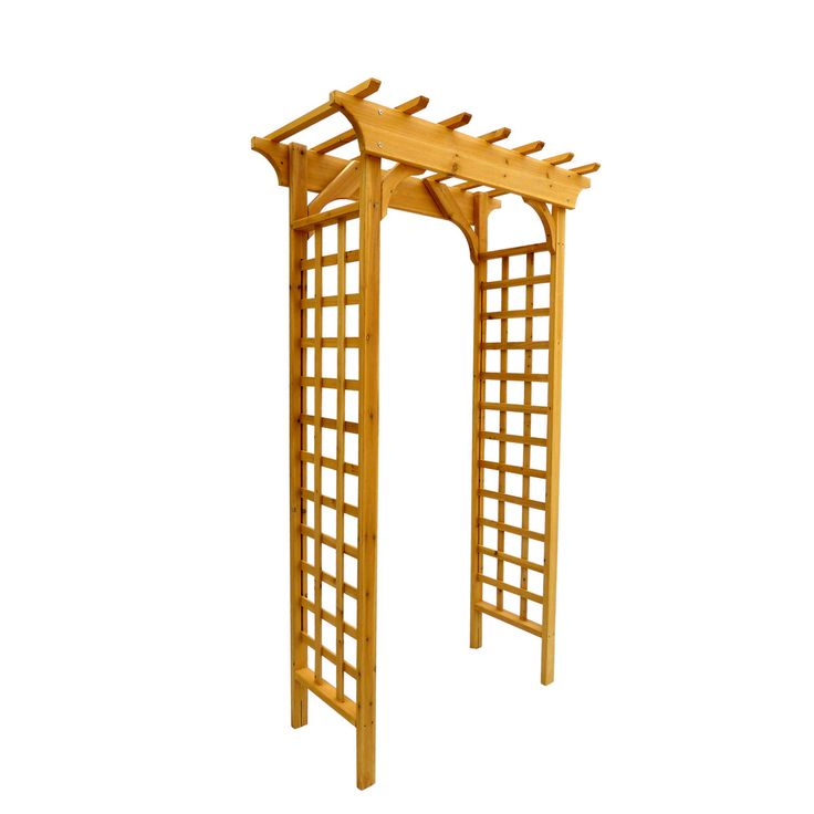 Arbor wooden arch trellis for Wooden garden trellis designs
