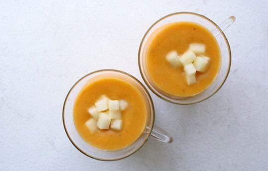 Butternut squash, apple, and sage soup. OM. NOM. OM NOM.