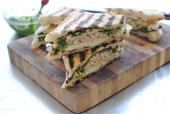 Chicken, Pear and Brie Panini / Bev Cooks