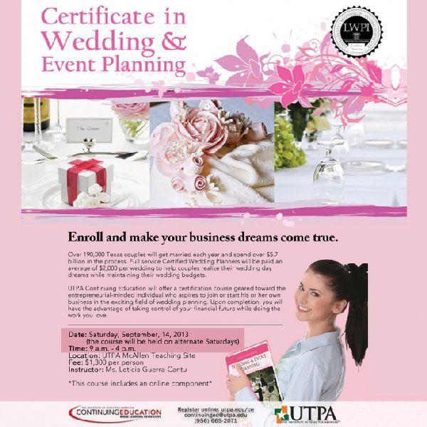online courses certified wedding event planning