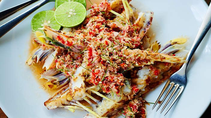 Grilled scampi with sambal matah recipe : SBS Food